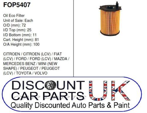 Car Engine Oil Filter Ford Fiesta Mk 6 1.4 TDCi 8v 1398 Diesel 1//02-5//09