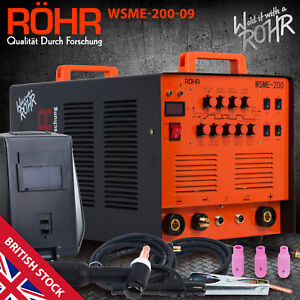 ARC TIG Welder Inverter MMA Gas / Gasless 240V 200amp DC 4 in 1 WSME-200 - ROHR