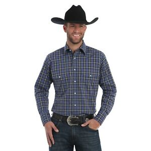 5225a6ff Wrangler Fashion Snap Mens Long Sleeve Western Plaid Shirt, MWR280m ...