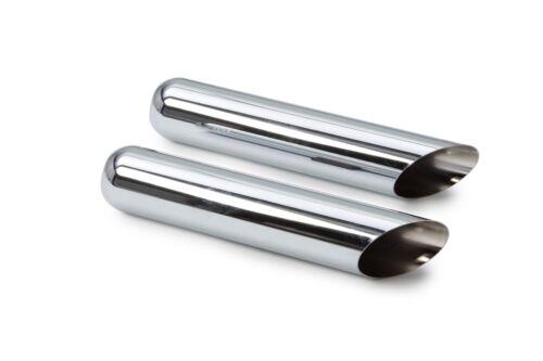 Performance 1-Chamber Muffler Dual Exhaust Chrome Tips Silverado Sierra 96-99