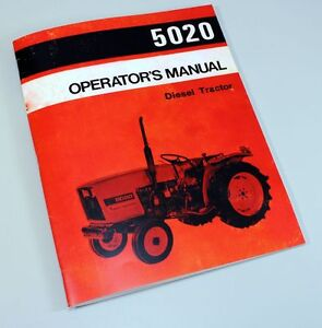 ALLIS-CHALMERS-5020-OPERATORS-OWNERS-MANUAL-DIESEL-TRACTOR-BOOK-MAINTENANCE