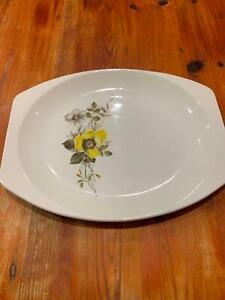 J-amp-G-Meakin-Studio-Pottery-Serving-Sandwich-Plate-Vintage-Collectible-Floral