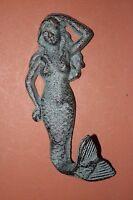 (20) Lot Of 20 Mermaid Wall Hooks, Bronze-look Mermaid Wall Decor, Gift, N-22a