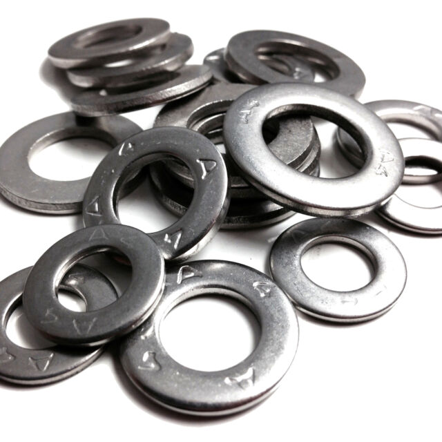 FORM A WASHERS A4 MARINE GRADE STAINLESS STEEL,THICK WASHER TO FIT  BOLTS SCREWS