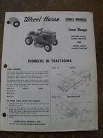 Wheel Horse Parts Manual - Lawn Ranger - Original