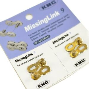 2 pairs Re-Usable Gold gobike88 KMC CL559R missing link for 10 speed 314