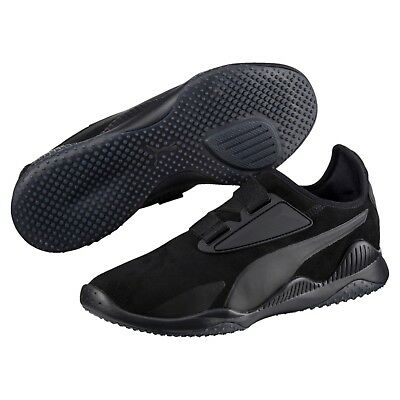 new puma mens mostro hypernature shoes sneakers black 364403 01 suede leather | eBay