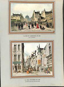 Rue-du-Carrousel-a-Paris-en-1828-par-Canella-Rue-Jean-Tison-en-ILLUSTRATION-1955