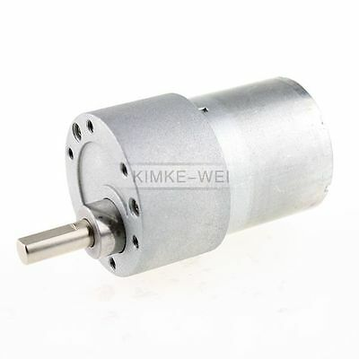 24V DC 400RPM High Torque Gear Box Electric Motor New