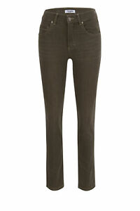 Angels Trousers Cici Dark Khaki Used 585 3400.52958 - Regular Fit Stretch