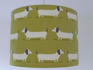 Ochre Yellow Sausage Dog Dachshund Fabric Drum Lampshade Novelty Ebay