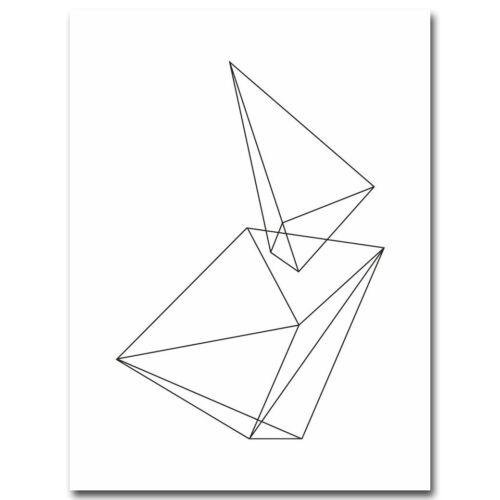 Geometry Abstract Minimalist Canvas Poster Art Prints Black White Home Decor