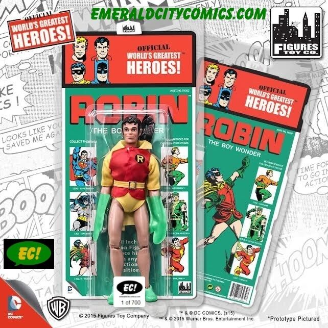 Robin 8-in Retro Mego Emerald City Exclusive Kresge Yellow Sleeve Variant-First