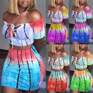 USA-Women-2-Skirt-Piece-Bodycon-Two-Piece-Crop-Top-and-Set-Lace-Up-Dress-Party