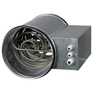 Luftvorwärmer Elektro Heizregister Lufterhitzer Vorheizer mit 2000 Watt