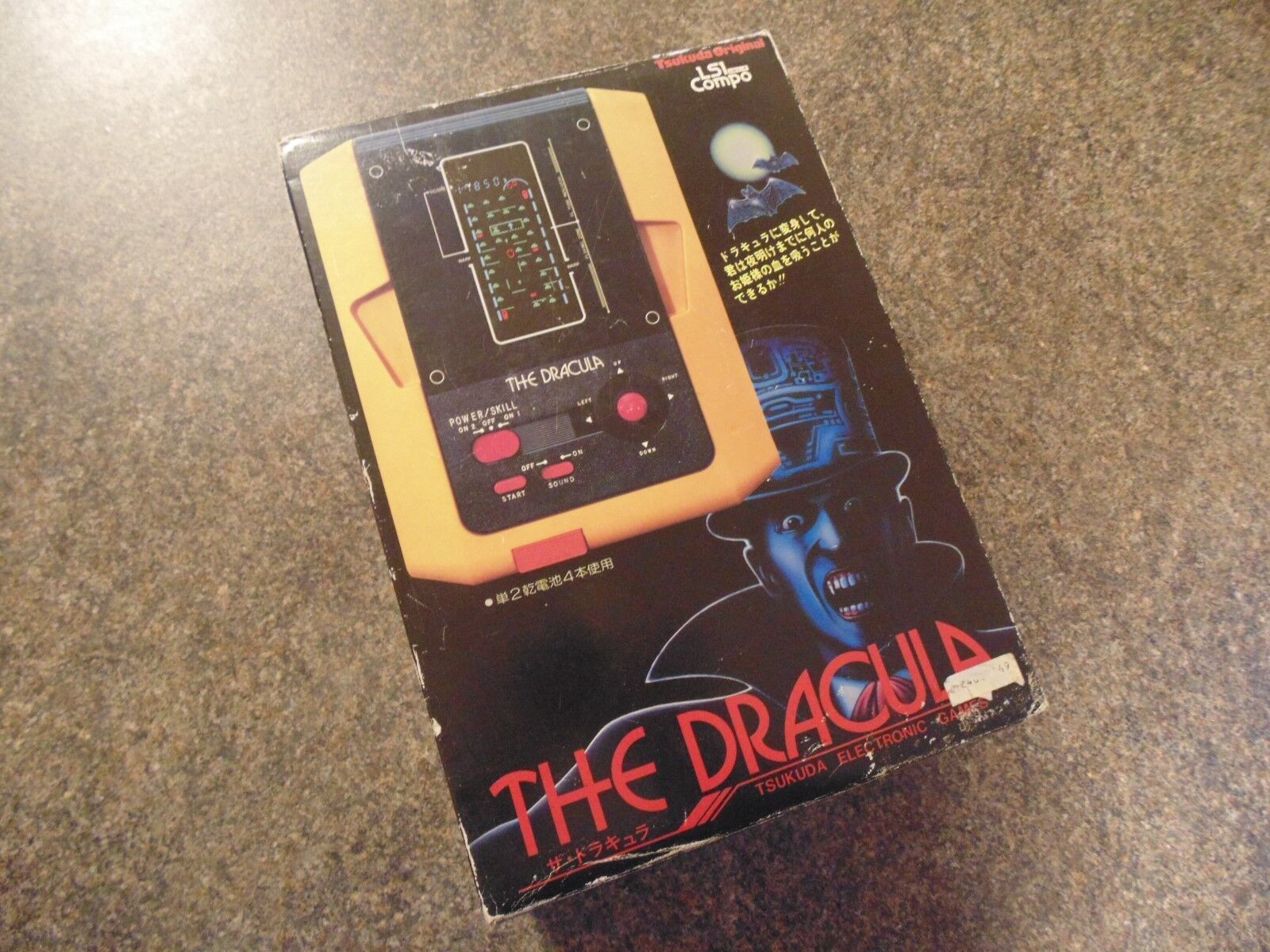 THE DRACULA TSUKUDA 1982 TABLETOP HANDHELD RETRO GAME BOXED COMPLETE  AMAZING