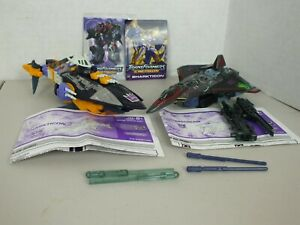 Transformers Energon Lot - Figurine d'action Sharkticon et Starscream avec missiles