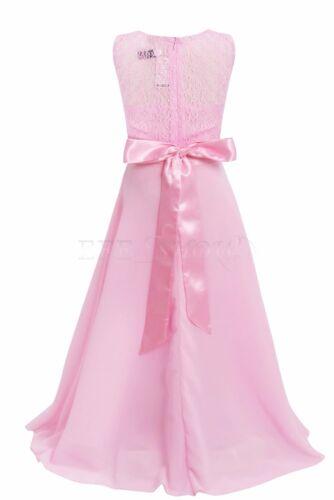 Blumen-Mädchen Kinder Festkleid Hochzeit Kommunionkleid Prinzessin Gr 104-164