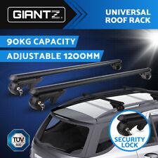 "Giantz 1200MM 48"" Universal Car Top Roof Rack Cross Bars Graphite Lockable BK"