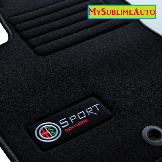 Tapis De Sol Alfa Roméo GT De 2004 à 2010 Velours Edition Logo Sport Brodé NEUFS