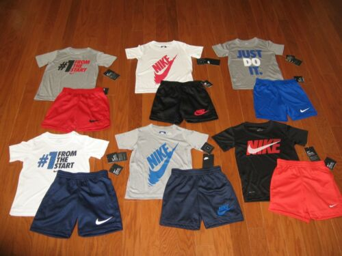 Nike 2 Piece T-Shirt & Shorts Outfit  Set  Boys Size  4/ 5/ 6/ 7 NWT
