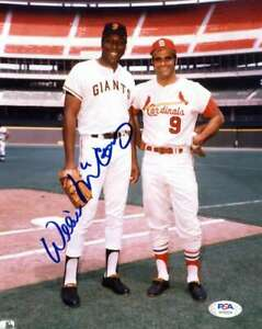 Willie McCovey PSA DNA Coa Hand Signed 8x10 With Joe Torre Photo Autograph