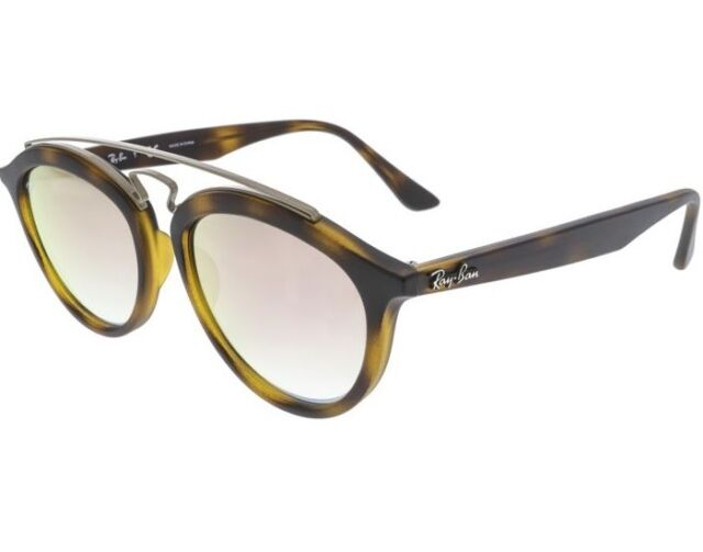 7aeb121d9e Ray-Ban Rb4257 Gatsby II Tortoise Frame Copper Grad Mirror 53mm Lens  Sunglasses