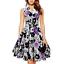 mini abito cerimonia da donna vestito in stampa floreale elegante da festa party