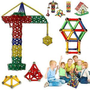 103pcs/set Magnetic Sticks Building Blocks Assemble Toys Kids Educational Gift