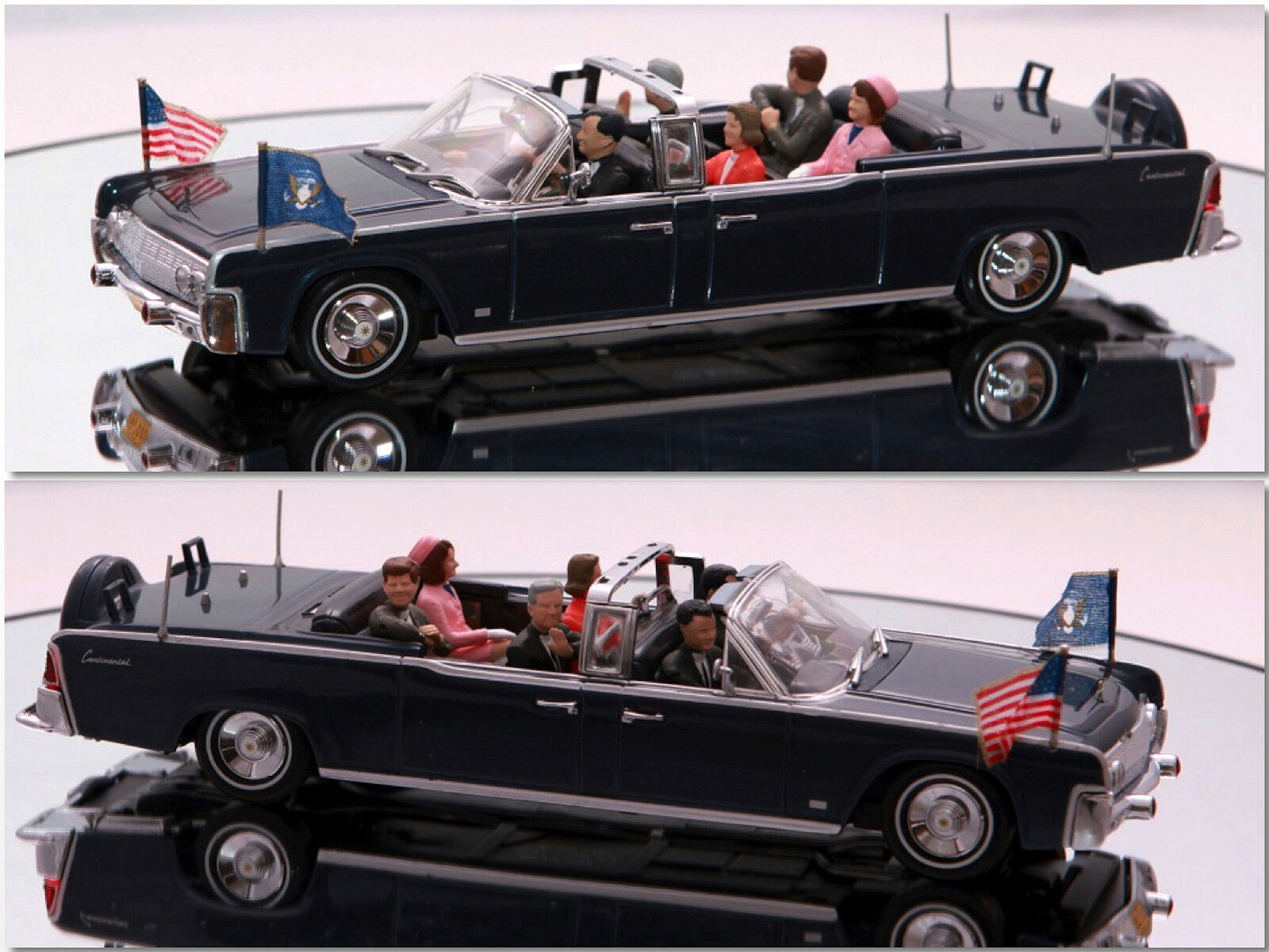 Minichamps - 1961 Lincoln Continental X-100 JFK Presidential 1 43