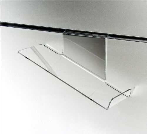 Store Display Fixtures NEW ACRYLIC DELUXE SLATWALL SHOE SHELF HEEL,RIGH SLANT