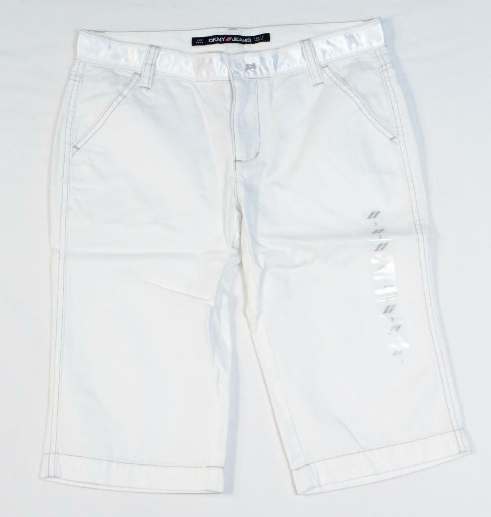 DKNY Jeans White Super Crop Shorts Junior Womans Size 3 NWT