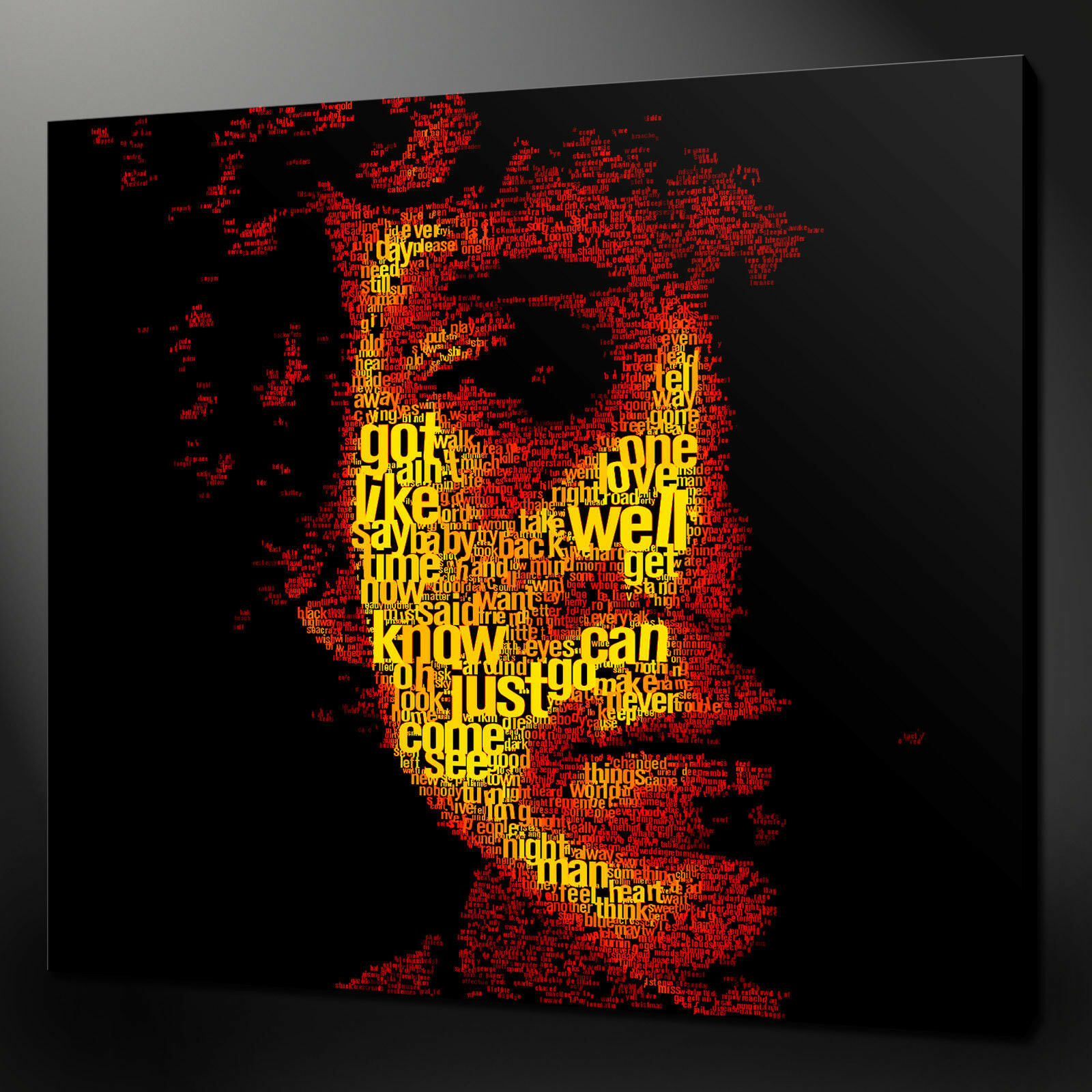 BOB DYLAN TYPOGRAPHY CANVAS PICTURE PRINT WALL ART HOME DECOR DECOR DECOR FREE FAST DELIVERY 7356bb
