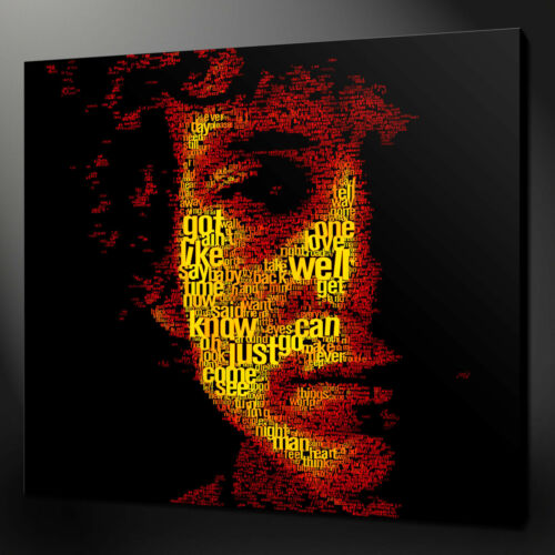 BOB DYLAN TYPOGRAPHY CANVAS PICTURE PRINT WALL ART HOME DECOR FREE FAST DELIVERY