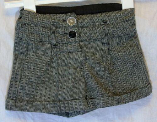 Girls YD Primark Grey Black Herringbone Smart Formal Shorts Age 2-3 Years