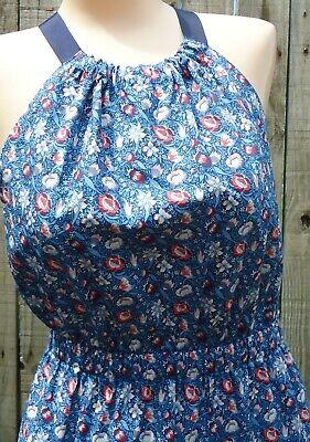 Antonio Melani Olivia Dress Size 12 Blue Forest Road Halter Keyhole NWT $199