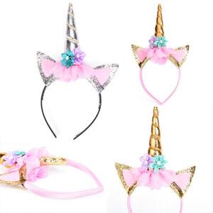 Magico-unicornio-cuerno-cabeza-fiesta-pelo-diadema-Disfraces-Cosplay-decorativos