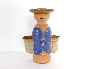 Norleans-Japanese-Stoneware-Planter-Candle-Holder-Vintage