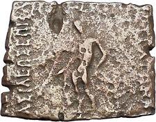Apollodotos I 174BC Baktrian Indo Greek King of India Apollo Ancient Coin i46915