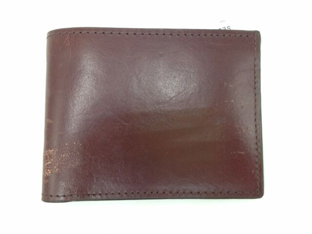New Men/'s Genuine LEATHER Bi fold WALLET Billfold Credit Card ID Photo Brown