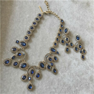 OSCAR-DE-LA-RENTA-AUTH-SIGNED-SAPPHIRE-PAVE-CRYSTAL-RUNWAY-NECKLACE-AND-EARRINGS