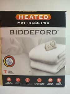 Biddeford TWIN Size Electric Heated Mattress Pad Warming Quilted Warm Cover Bed