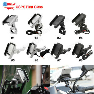 Silver Motorcycle Cell Phone Holder For Harley Davidson Street Glide Touring US