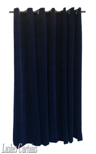 Navy Blue 120 inch H Velvet Curtain Panel w//Grommet Top Eyelets Window Drapery