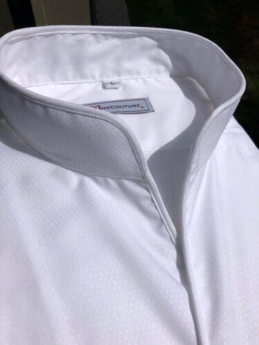 MorCouture White Band Collar Shirt