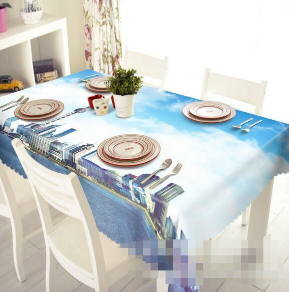 3D  City Sky 4 Tablecloth Table Cover Cloth Birthday Party Event AJ WALLPAPER AU