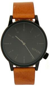 Komono-pulsera-reloj-Winston-estante-cuero-cognac-marron-com-w2253-negro