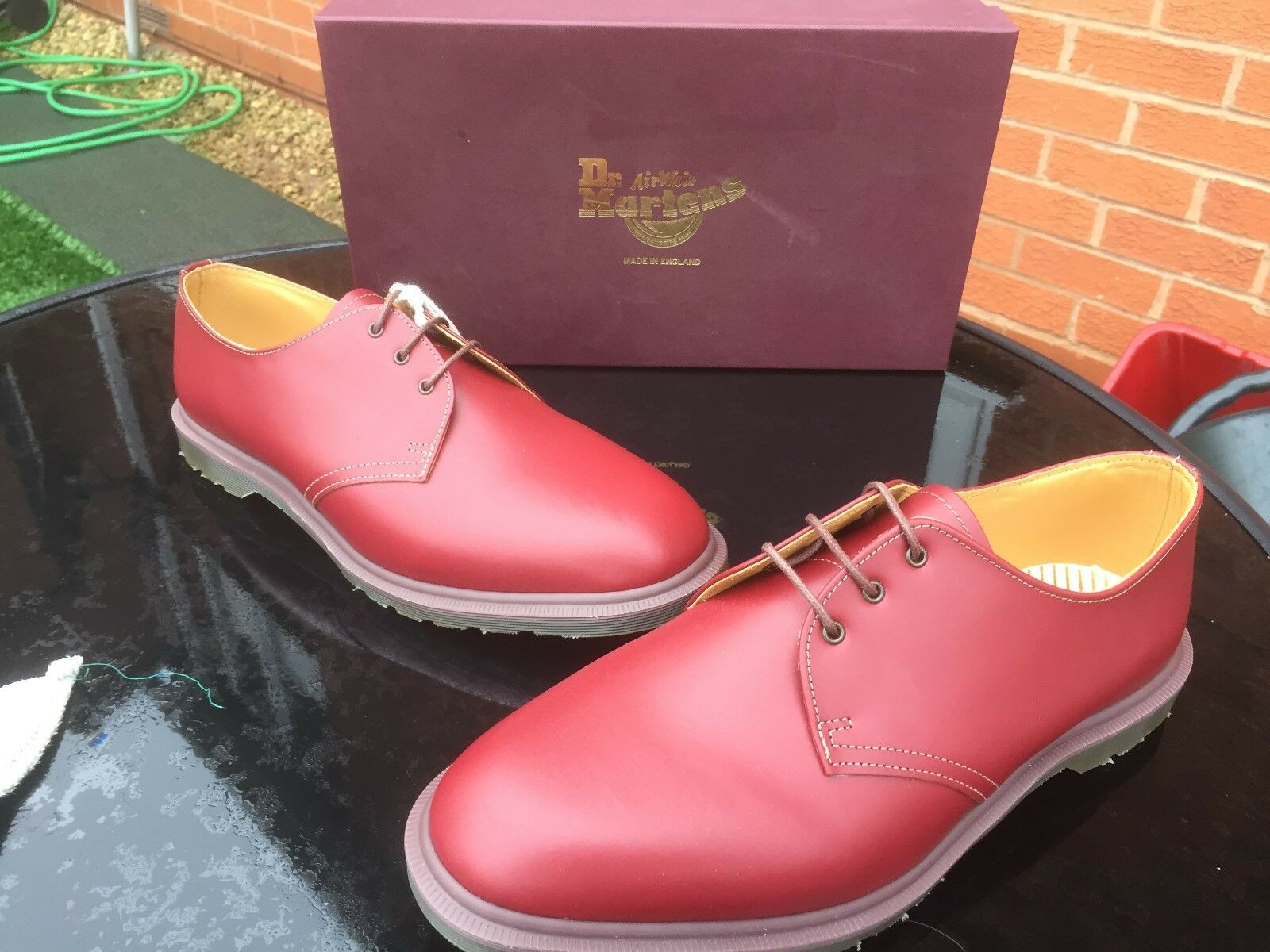 Martens Steed Dr AMARANTO quilon in Pelle in Tg EU 39 Made in Pelle England b3d75c