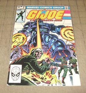 GI JOE #3 (1st Print Sept 1982) FN++ Condition Comic - G.I. JOE - ROBOT COVER
