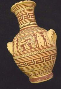 griechische vase aus ton handbemalt ebay. Black Bedroom Furniture Sets. Home Design Ideas